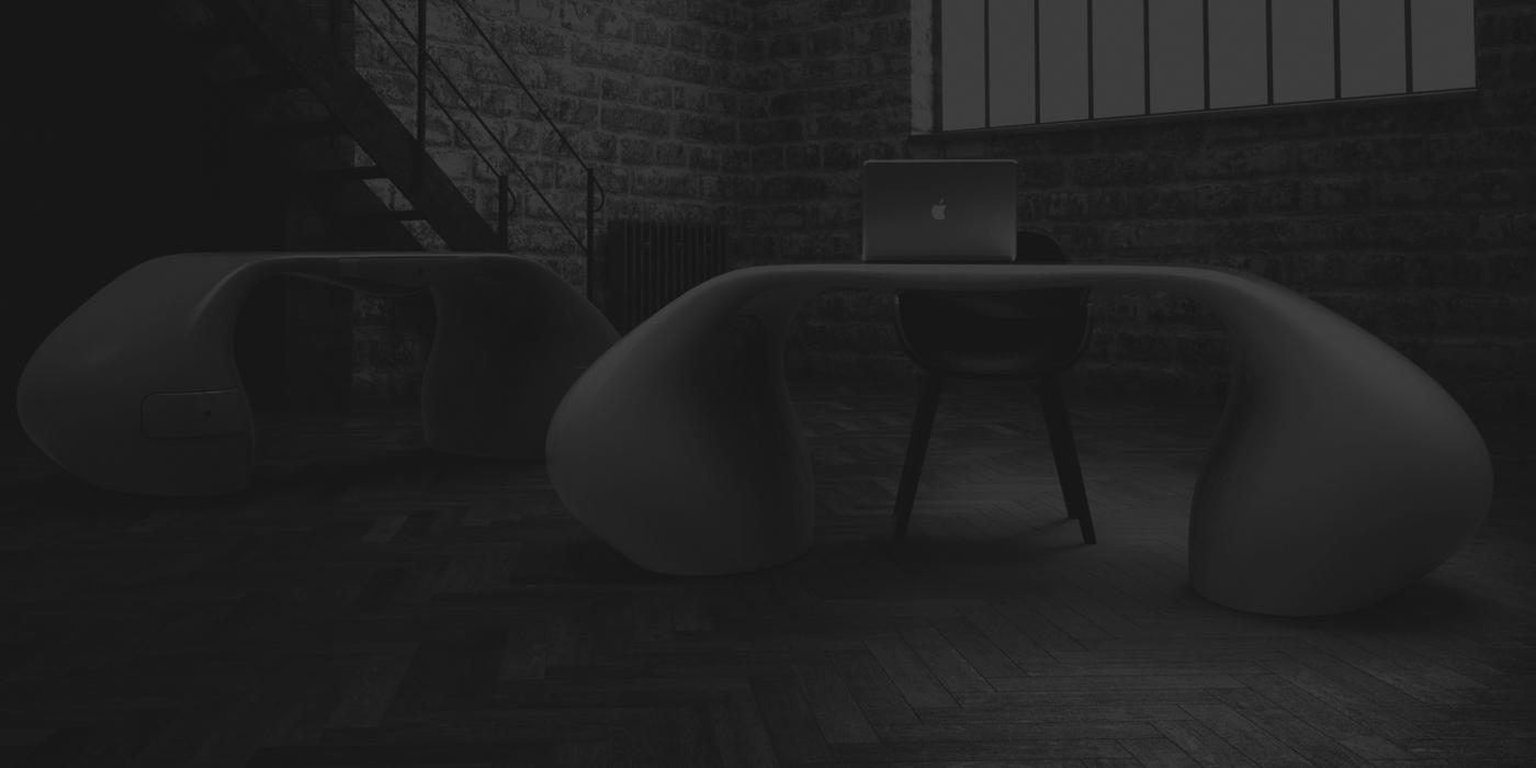 Scrivania Design Massive